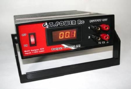 GT. Power tápegység 12V 20A max (ampermérővel) Használt, bemutató darab volt !!!!!! KIFOGYOTT !!!!!