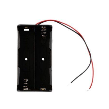 18650 Li-ion akkumulátor tartó 2db akkuhoz, vezetékkel RENDELÉS ALATT !!!!!