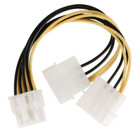 Belső tápfeszültség osztókábel, EPS 8 érintkezős – 2x Molex dugasz, 0,15 m (VLCP74400V015) KIFOGYOTT !!!!!