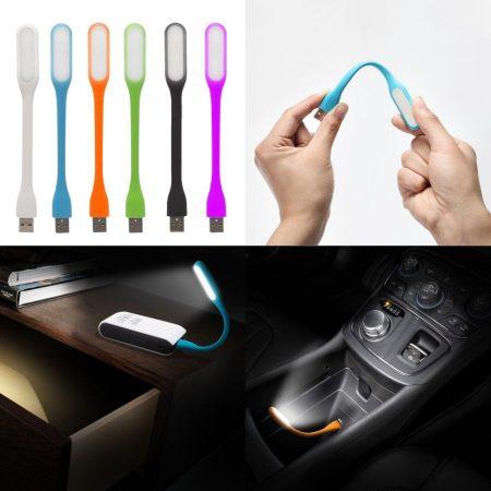 USB flexibilis COB LED-es lámpa, notebookhoz, PC-hez, autóba stb.. FEKETE  AKCIÓS !!!!!! RENDELÉS ALATT !!!!!!