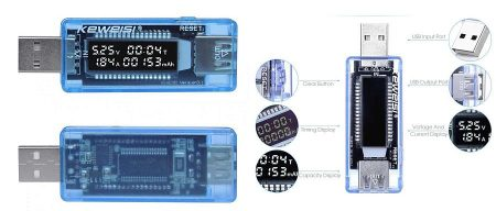 USB teszter, Volt, Amper, Kapacitás, 3 in 1 RENDELÉSRE !!!!!!!