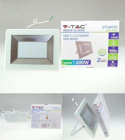 V-TAC E-Series-W LED reflektor (100 Watt/110°) Meleg fehér 8500 lumen (SKU 5967) AKCIÓS !!!! RENDELÉSRE !!!!! 3-4 munkanap