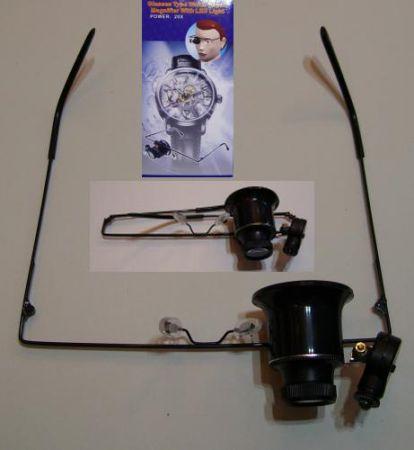 20 X-os nagyítós szemüveg szimpla nagyítóval led világítással RENDELÉSRE !!!!!!! 2-3 munkanap