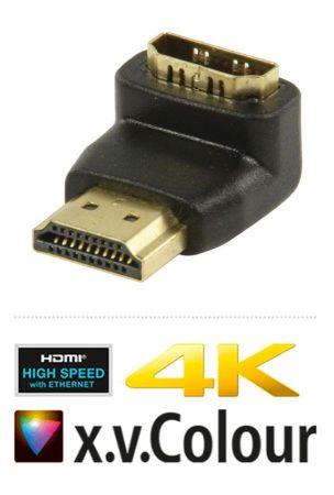 HDMI 90 fokos adapter, aranyozott, 4K (CVGP34901BK) AKCIÓS !!!!! KAPHATÓ !!!!!!