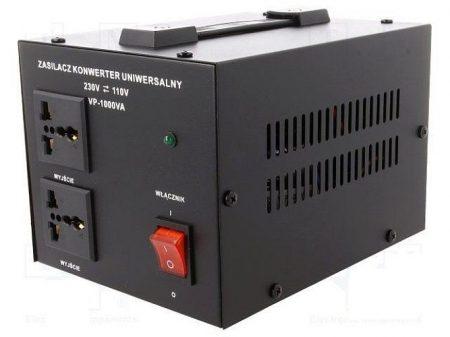 Asztali feszültség konverter 1000W 230/110V (AUTOTRANSFORMÁTOR fém házban (VOLT VP-1000VA) KÜLSŐ RAKTÁRON !!!! 3-4 munkanap