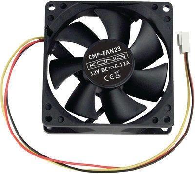 80-as KÖNIG ventilátor, (FAN23-13) 12V 80x80x25mm KAPHATÓ !!!!!!!
