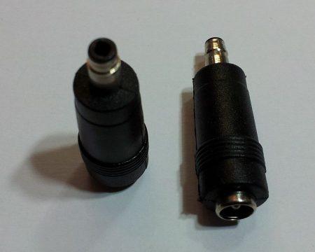 DC átalakító adapter 4,8/1,7mm a hegyén 4,1mm-re szűkül a dugó - 5,5/2,1 aljzat