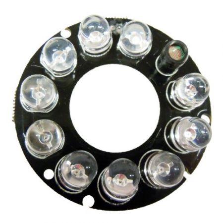 10 LED-es, 8mm-es infravörös ledekkel szerelt panel KAPHATÓ !!!!!