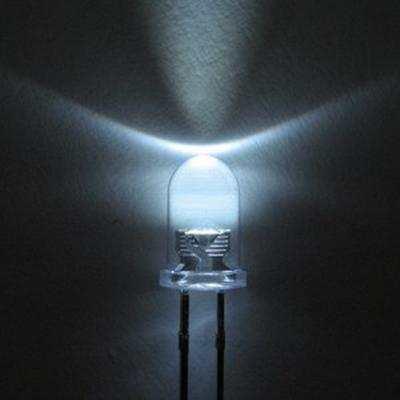 5mm fehér nagyfényű villogó LED 30fok 1000mcd KAPHATÓ !!!!!!