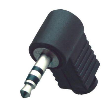 3,5mm-es szereó jack pipa dugó, műanyag fekete házban. KAPHATÓ !!!!!