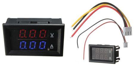 DC 0-100V 0-10A Dupla LED kijelző digitális voltmérő ampermérő modul KAPHATÓ !!!!!!