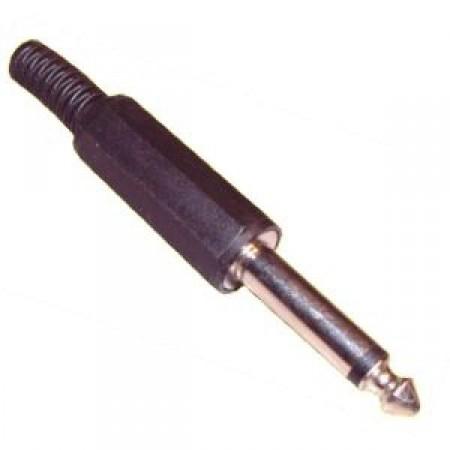 6,3mm-es monó jack dugó. fekete színben. KAPHATÓ !!!!!!