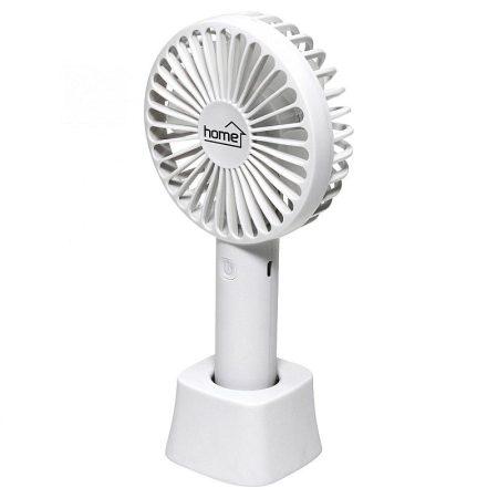 Hordozható, Kézi tölthető ventilátor, Három sebesség fokozat, Fehér, Li-Ion akku 1200mA KAPHATÓ !!!!!!