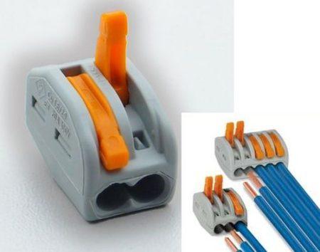 Oldható vezetékösszekötő 2-es, 4mm2-ig, 32A-ig (WAGO) RENDELÉS ALATT !!!!!
