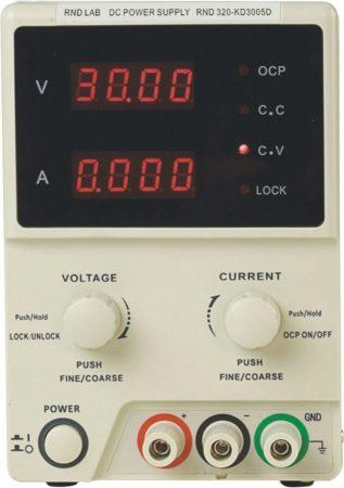 0-30V 0-5A labor tápegység LED kijelző 150W, (RND320-KD3005D) KÜLSŐ RAKTÁRON !!!!!! 1-2 munkanap (előre utalással)