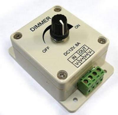 Fényerőszabályzó 12V-24V-ig 8A 12V-96W 24V-192W LED szalagokhoz. (DIMMER) AKCIÓS !!!! KAPHATÓ !!!!!