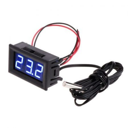 Hőmérő panel -50 - +110 fok LED kék KIFOGYOTT !!!!!!