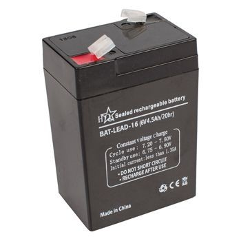 Zselés akkumulátor 6V 4,5A  (BAT-LEAD-16) RENDELÉSRE !!!!!