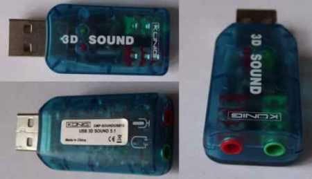 USB hangkártya mini PC, Notebook, és ANDROID-hoz, akár telefonokhoz is. (USCR10051BU) KÜLSŐ RAKTÁRON!!!!! 3-4 munkanap