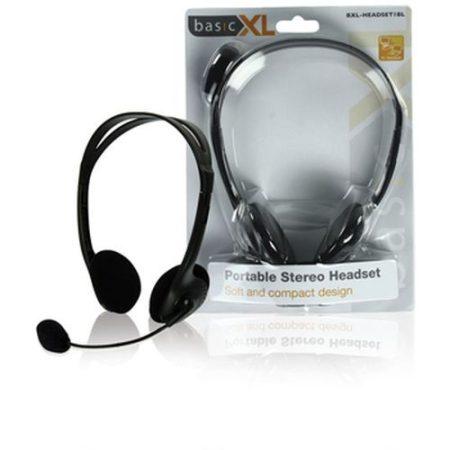 Multimédiás fejhallgató mikrofonnal fekete (BXL-HEADSET1BL) RENDELÉSRE !!!!!!