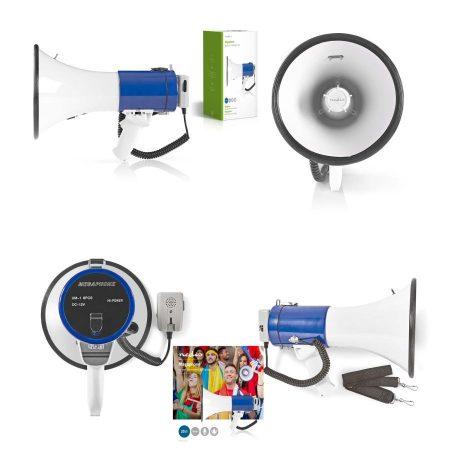 Megafon, hangosbeszélő, 25 W, 1500 méteres Hatótávolság, Lecsatlakoztatható Mikrofon, Fehér / Kék (MEPH200WT) KÜLSŐ RAKTÁRON !!!! 1-2 munkanap (Előreutalással)