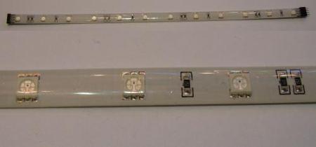 Ledszalag 3 chipes SMD 5050 RGB LED-ek száma 12db, hossza 30cm-es cseppálló !!!! AKCIÓS !!! KAPHATÓ !!!!!!