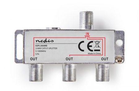 F-ELOSZTÓ 3-as  5 - 1000 MHz, ax. 6,8 dB Csillapítás (SSPL300ME) kábel TV, DVB-T elosztása RENDELÉSRE !!!!!