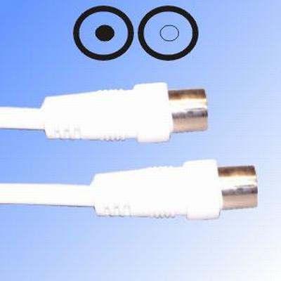 Antemma kábel 5m aljzat - dugó RF-kábel földi analóg és DVB-T (VLSP40000W50) RENDELÉSRE !!!!!!!