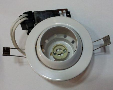 Beépíthető lámpatest GU10 síkban billenő , halogénhoz vagy LED-hez 1