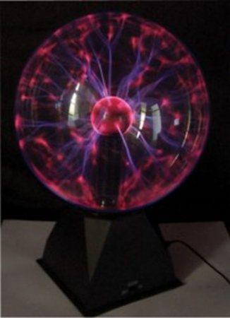 Mágikus Plazmagömb fénygömb, 10 W, 3500 lm, Üveg, 20 cm (FUDI215BK) AKCIÓS !!!! KÜLSŐ RAKTÁRON !!!!! 1-2 MUNKANAP