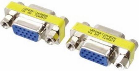 FÉM VGA mini adapter aljzat - aljzat