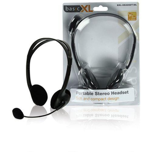 Multimédiás fejhallgató mikrofonnal fekete (BXL-HEADSET1BL)